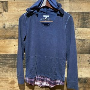 Maurices XS NWT Blue Hooded Sweatshirt